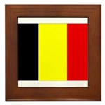 Belgium Flag Framed Tile