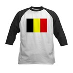 Belgium Flag Kids Baseball Jersey