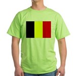 Belgium Flag Green T-Shirt