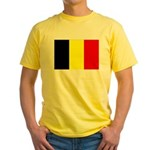 Belgium Flag Yellow T-Shirt