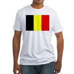 Belgium Flag Fitted T-Shirt