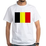 Belgium Flag White T-Shirt