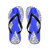 Blue Awareness Ribbon Flip Flops