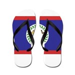 Belize Flag Flip Flops