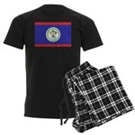 Belize Flag Men's Dark Pajamas