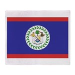 Belize Flag Throw Blanket