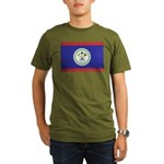 Belize Flag Organic Men's T-Shirt (dark)