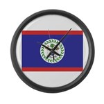 Belize Flag Large Wall Clock