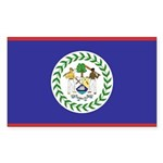 Belize Flag Sticker (Rectangle 10 pk)