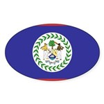 Belize Flag Sticker (Oval 10 pk)