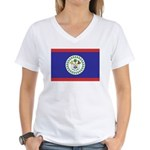 Belize Flag Women's V-Neck T-Shirt