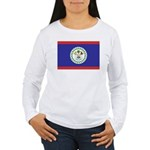 Belize Flag Women's Long Sleeve T-Shirt