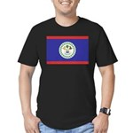 Belize Flag Men's Fitted T-Shirt (dark)