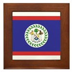 Belize Flag Framed Tile