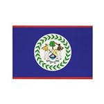 Belize Flag Rectangle Magnet (100 pack)