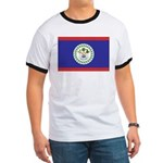 Belize Flag Ringer T