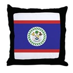 Belize Flag Throw Pillow