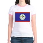 Belize Flag Jr. Ringer T-Shirt