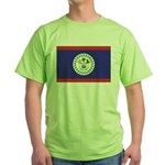 Belize Flag Green T-Shirt