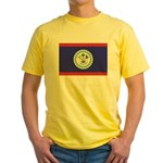 Belize Flag Yellow T-Shirt