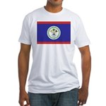 Belize Flag Fitted T-Shirt
