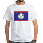 Belize Flag White T-Shirt