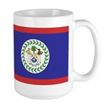 Belize Flag Large Mug