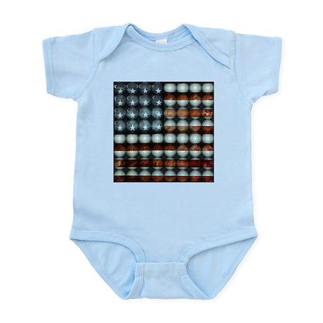 American Flag Creative Infant Bodysuit