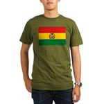 Bolivia Flag Organic Men's T-Shirt (dark)