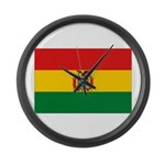Bolivia Flag Large Wall Clock