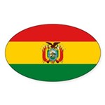 Bolivia Flag Sticker (Oval 10 pk)