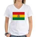 Bolivia Flag Women's V-Neck T-Shirt