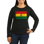 Bolivia Flag Women's Long Sleeve Dark T-Shirt