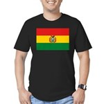 Bolivia Flag Men's Fitted T-Shirt (dark)