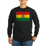 Bolivia Flag Long Sleeve Dark T-Shirt