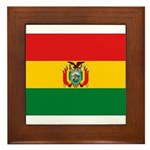 Bolivia Flag Framed Tile
