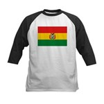 Bolivia Flag Kids Baseball Jersey