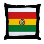 Bolivia Flag Throw Pillow