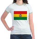 Bolivia Flag Jr. Ringer T-Shirt