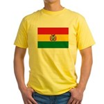 Bolivia Flag Yellow T-Shirt