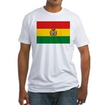 Bolivia Flag Fitted T-Shirt