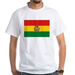 Bolivia Flag White T-Shirt