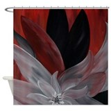 Floral Abstract Modern Shower Curtain