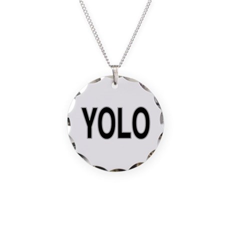 YOLO Necklace Circle Charm