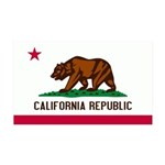 California Flag 38.5 x 24.5 Wall Peel
