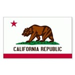California Flag Sticker (Rectangle 10 pk)