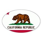 California Flag Sticker (Oval 50 pk)