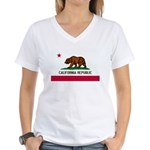 California Flag Women's V-Neck T-Shirt