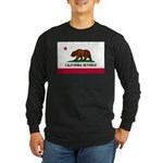 California Flag Long Sleeve Dark T-Shirt