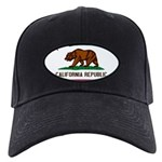California Flag Black Cap